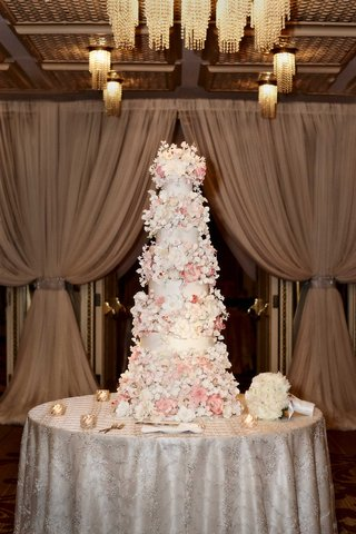 white-wedding-cake-covered-with-white-and-pink-sugar-flowers