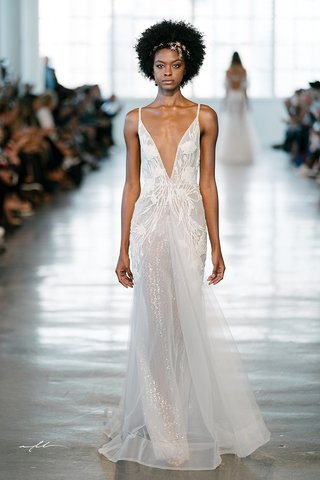 berta-fall-2018-wedding-dress-deep-v-neck-bridal-gown-sheer-horsehair-skirt-hem-spaghetti-straps