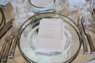 silver-rimmed-plate-with-white-menu-card