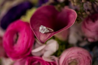princess-cut-diamond-engagement-ring-on-calla-lily