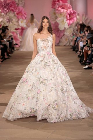 ines-di-santo-ball-gown-asymmetrical-bodice-flower-print-and-illusion-back