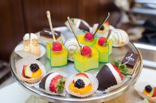 bridal-shower-brunch-desserts-chocolate-covered-strawberries-fruit-tarts-cream-puffs-napoleons