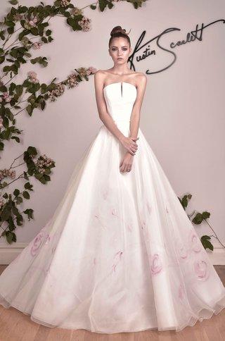 austin-scarlett-strapless-a-line-ball-gown-with-pink-flower-print-skirt