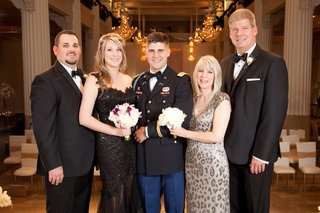 military-dress-blues-groom-with-mom-in-leopard-print-dress