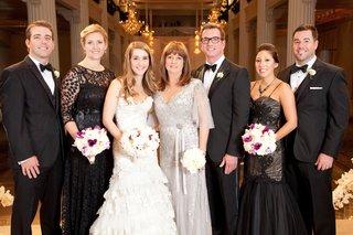 sophisticated-black-tie-wedding-guests-of-bride
