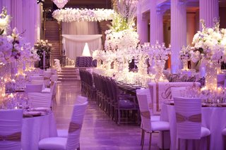 purple-wedding-reception-with-head-table-and-marble-columns
