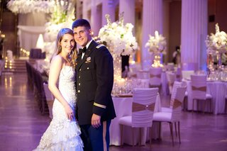 bride-and-groom-at-reception-with-dress-blues-uniform