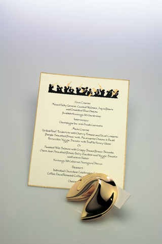 fortune-cookie-and-gold-rimmed-reception-menu