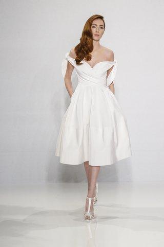 christian-siriano-for-kleinfeld-bridal-short-mid-length-skirt-wedding-dress-off-the-shoulder-ties