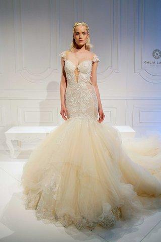 ivory-wedding-dress-with-illusion-cap-sleeves-sheer-bodice-sides-lace-details-long-train-galia-lahav