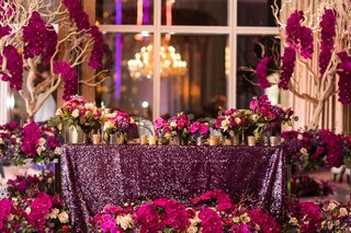 purple-sequin-linens-fuchsia-flowers-trees-with-fuchsia-orchids