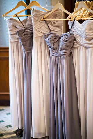 purple-gray-and-taupe-bridesmaid-dresses-with-ruched-bodices