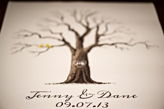 wedding-program-decorated-with-drawing-of-bare-tree