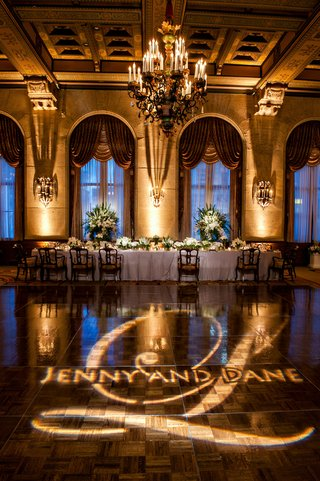 names-of-couple-and-their-monogram-projected-onto-dance-floor