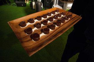mini-chocolate-lava-cakes-on-wood-platter