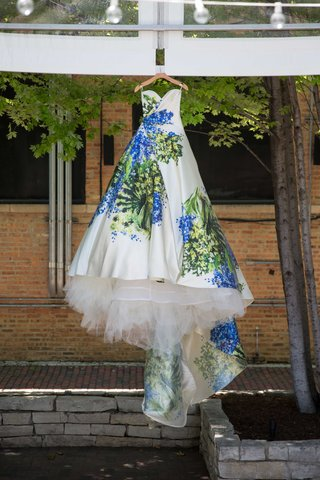 hand-painted-blue-and-green-wedding-ball-gown-romona-keveza-strapless