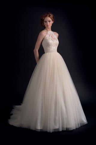 modern-trousseau-fall-2016-halter-lace-wedding-dress-ball-gown