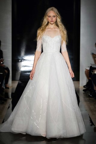 reem-acra-spring-2017-ball-gown-with-illusion-neckline-three-quarter-sleeves-and-beading