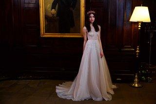 berta-bridal-fall-winter-2016-wedding-dress-with-silver-beading-sleeveless