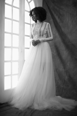francesa-miranda-fall-2019-bridal-collection-wedding-dress-arianna-turtleneck-tulle-overskirt