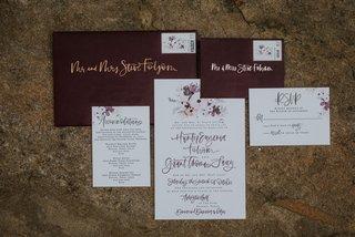 a-fabulous-fete-wedding-invitation-brush-lettering-calligraphy-gold-burgundy-envelope-flower-motif