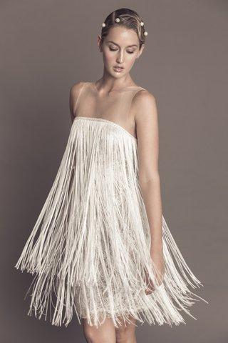 francesca-miranda-fall-2016-illusion-neckline-short-wedding-dress-with-1920s-inspired-fringe-flapper