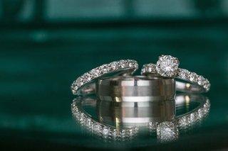 diamond-eternity-band-and-brushed-wedding-ring