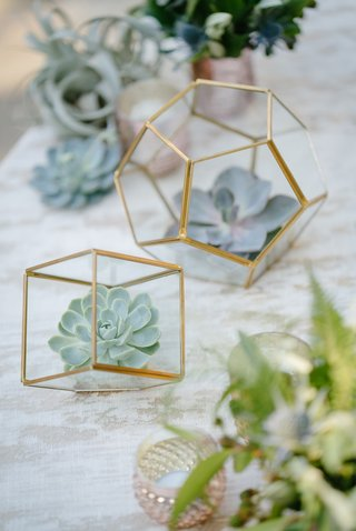 trendy-wedding-decor-succulents-in-geometric-terrariums-wedding-decor-rustic
