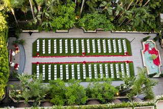 four-seasons-hotel-los-angeles-at-beverly-hills-garden-wedding-birds-eye-view-red-roses