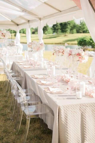 rectangle-tables-at-wedding-reception-blush-and-ivory-florals-ghost-chairs