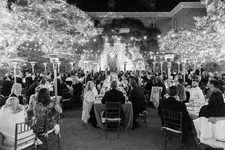 wedding-at-filoli-black-and-white-wedding-photo-twinkle-lights-on-trees-bistro-lights