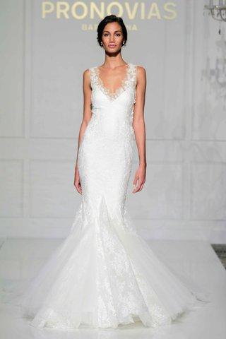 pronovias-2016-mermaid-wedding-dress-with-illusion-straps