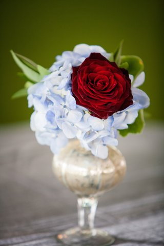 small-vase-with-light-blue-hydrangea-and-red-rose
