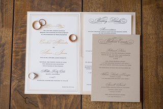 white-invitation-suite-with-gold-script-lettering-tan-insert