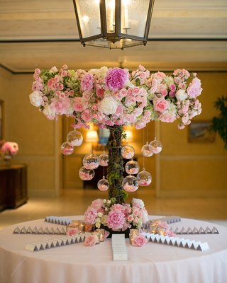 escort-card-table-with-terrarium-and-pink-peony-rose-decorations