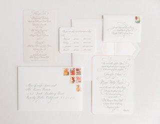 white-grey-gray-invitations-colorful-stamps-classic-plain-wedding-newport-beach-pelican-hill-resort