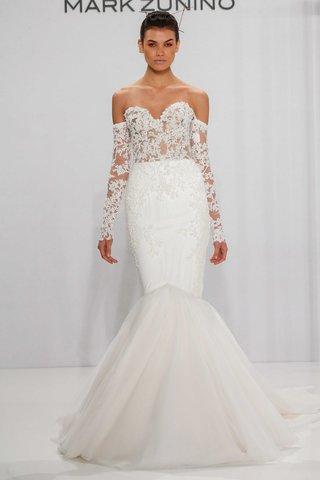 strapless-sweetheart-mermaid-wedding-dress-off-the-shoulder-long-sleeves-mark-zunino-for-kleinfeld