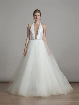liancarlo-spring-2018-soft-mikado-plunging-halter-illusion-tulle-ball-gown-bridal-collection