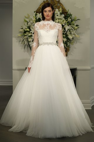 wedding-dress-with-sheer-sleeves-and-neckline-by-legends-romona-keveza