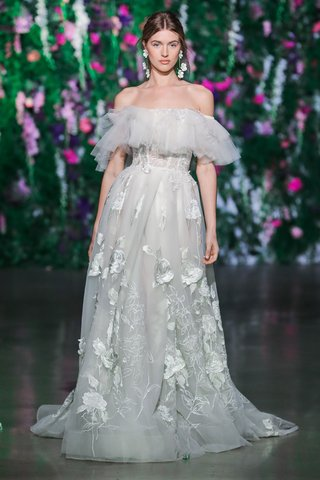 galia-lahav-fall-2018-wedding-dress-casablanca-off-shoulder-ruffle-flower-applique-skirt-dress