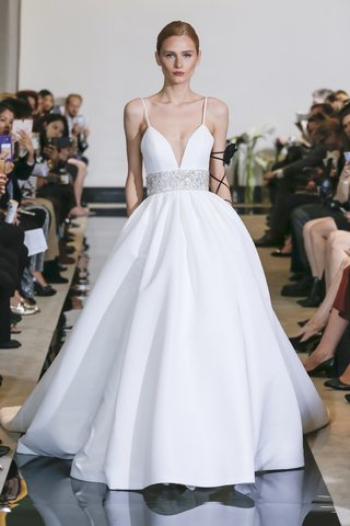 justin-alexander-spring-2018-pleated-ball-gown-beaded-waistband-bridal-designer