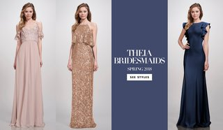 theia-bridesmaid-dresses-spring-2018-bold-striking-navy-gold-metallic-dusty-rose-pink-wedding-woman