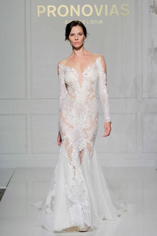 pronovias-2016-long-sleeve-sheer-lace-mermaid-wedding-dress