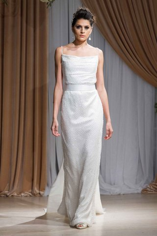 jean-ralph-thurin-fall-2016-sparkly-white-spaghetti-strap-wedding-dress