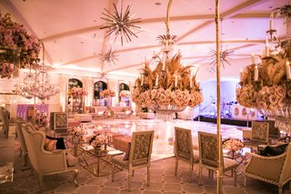 wedding-after-party-dance-floor-lounge-areas-around-dance-floor-starburst-lighting-flower-chandelier