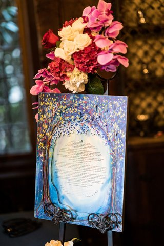 jewish-wedding-tradition-ketubah-wedding-ideas-paint-watercolor-cut-outs-laser-tree-motif-design