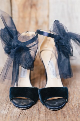 velvet-strap-jimmy-choo-wedding-heels-with-tulle-black-bow-on-ankle-strap