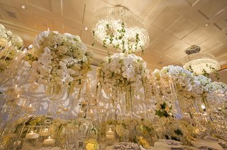 large-modern-crystal-chandeliers-with-ivy-wedding-styled-shoot-orchids