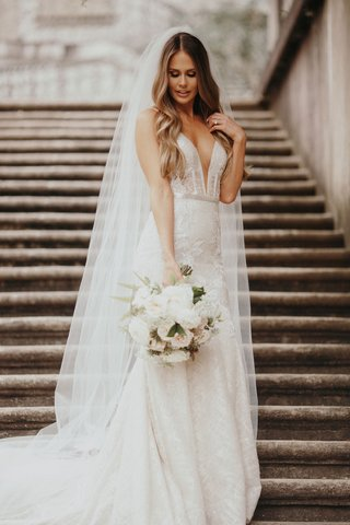 berta-wedding-dress-suzanna-villarreal-and-alex-wood-la-dodgers-wedding-veil-bouquet