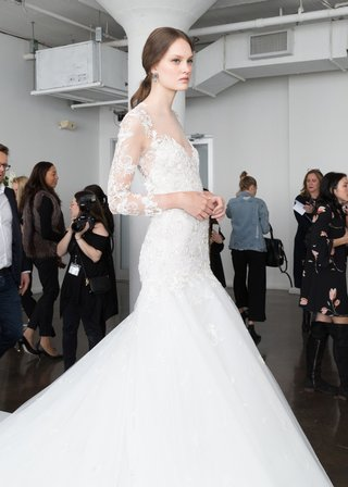 marchesa-bridal-spring-summer-2018-fit-and-flare-gown-long-illusion-sleeves-lace-details-tulle-skirt